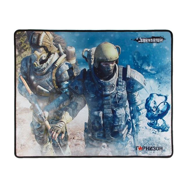 Коврик для мыши Гарнизон GMP-200, игровой, дизайн- игра Survarium, ткань/резина, размеры 437 x 350 - картинка