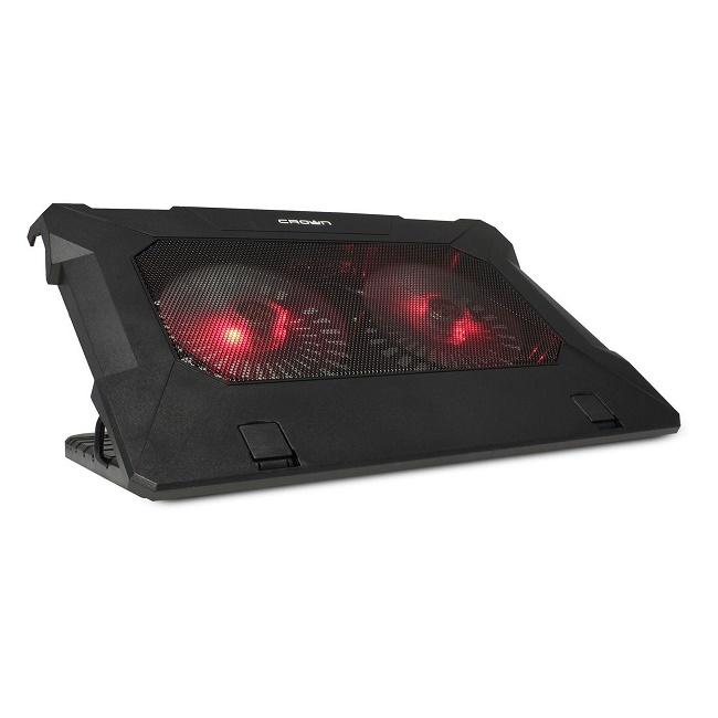 """Подставка для ноутбука охлажд. Crown CMLC-530T 17""""  D140*20мм *2шт.; LED подсветка; USB - картинка"""
