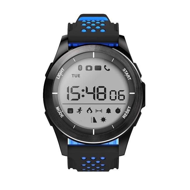 Смарт-часы NO.1F3 черно-синие, монохр дисплей - картинка