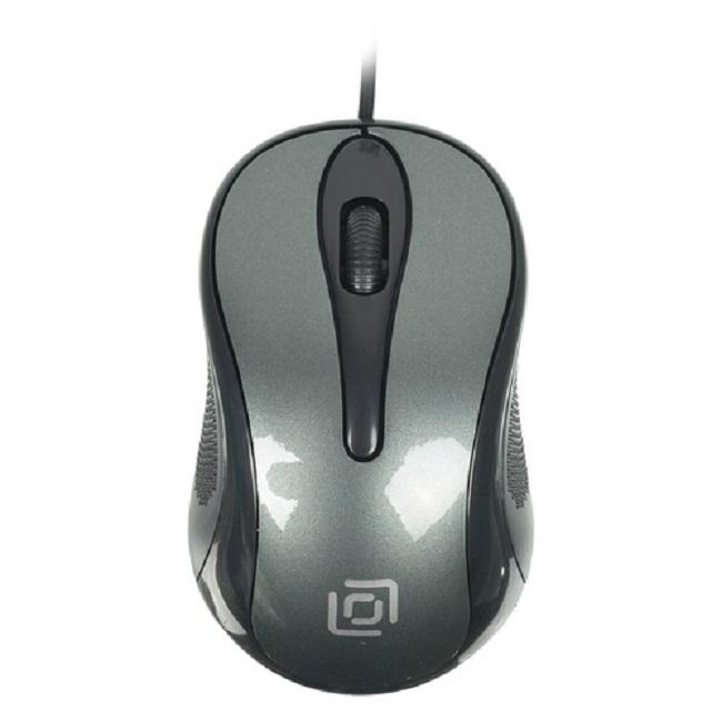 Мышь Oklick 385M черный/серый оптическая (1000dpi) USB для ноутбука (2but) - картинка