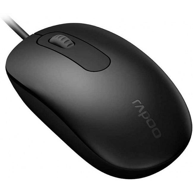 Мышь Rapoo N200 черный оптическая (1600dpi) USB (2but) - картинка