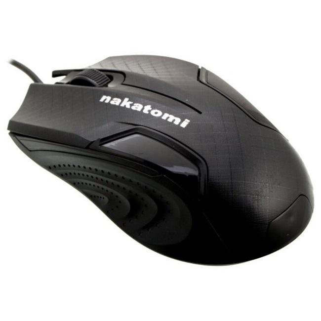 Мышь Nakatomi Navigator MON-06U, 800dpi, USB, чёрный - картинка