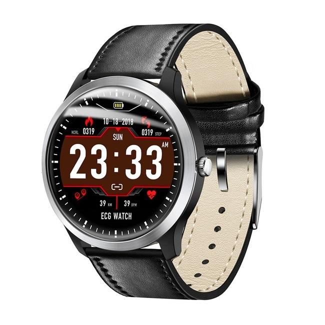 Смарт-часы LEMFO 2019 ECG leather - картинка
