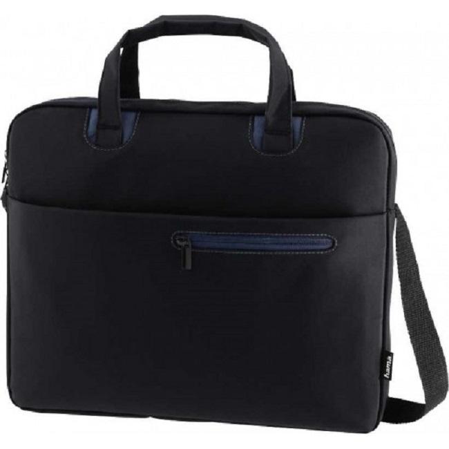 """Сумка для ноутбука 15.6"""" Hama Sydney черный/синий полиэстер (00101931) - картинка"""