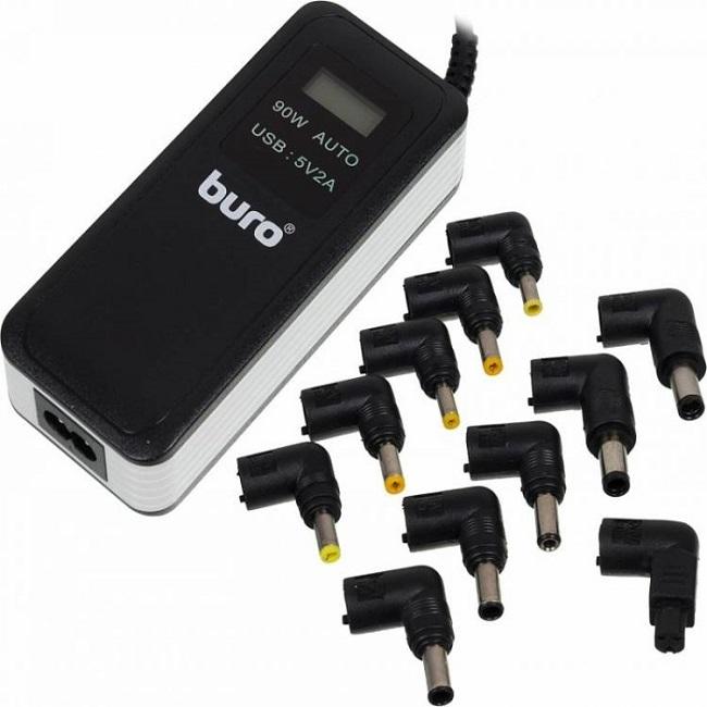Блок питания Buro BUM-0065A90 автоматический 90W 12V-20V 11-connectors 5A 1xUSB 2.1A от бытовой элек - картинка