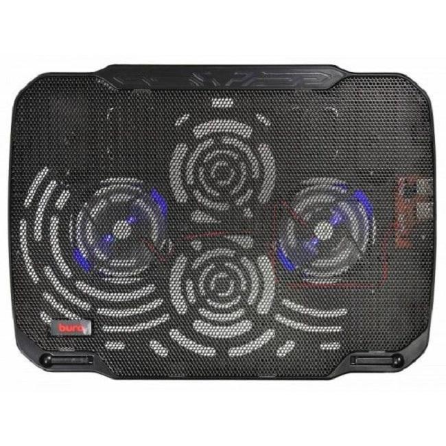 """Подставка для ноутбука Buro BU-LCP156-B208 15.6""""355x260x21мм 2xUSB 2x 80ммFAN 560г металлическая сет - картинка"""