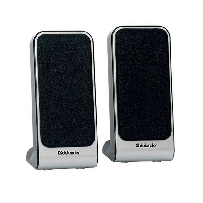 Колонки 2.0 Defender SPK-225 RMS 4W, USB, чёрно-серебряный - картинка