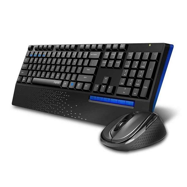 Клавиатура + мышь Rapoo X1960 клав:черный мышь:черный USB беспроводная - картинка