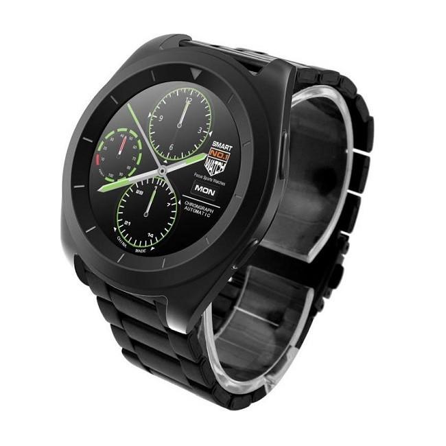 Смарт-часы NO.1G6 черные, ремешок сталь, цвет дисп - картинка