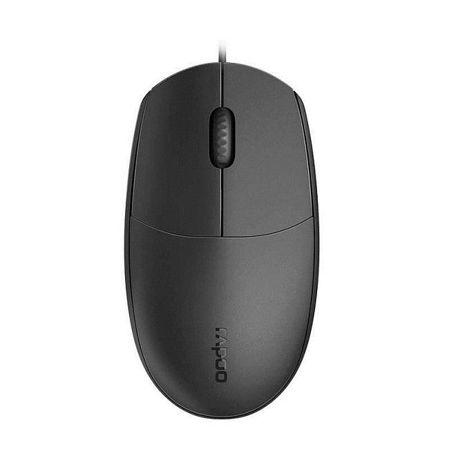 Мышь Rapoo N100 черный оптическая (1600dpi) USB (2but) - картинка