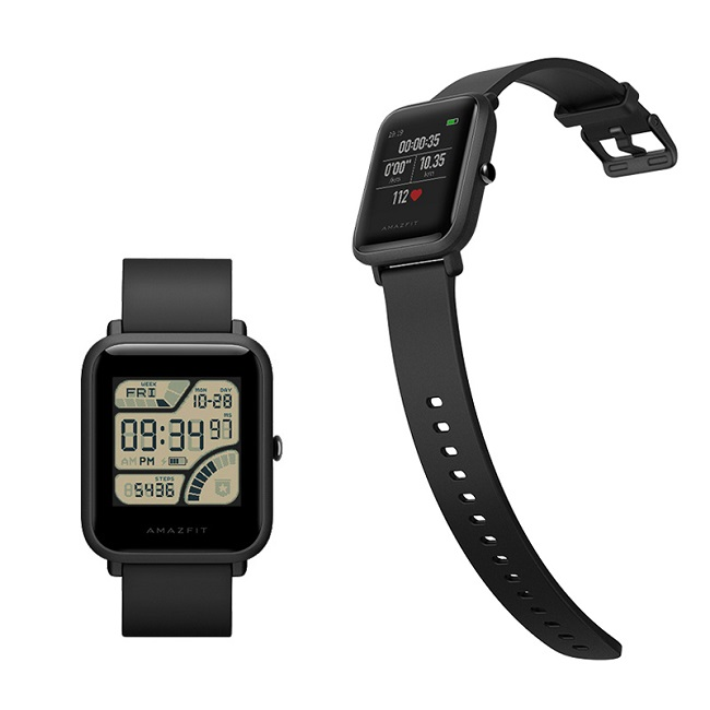 Смарт часы Xiaomi Huami Amazfit Bip Onyx дисплея цвет, олеофоб пок - картинка