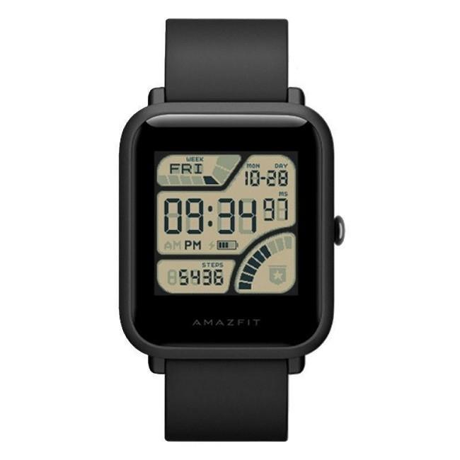 Смарт часы Xiaomi Huami Amazfit Bip Onyx дисплея цвет, алеофоб пок - картинка