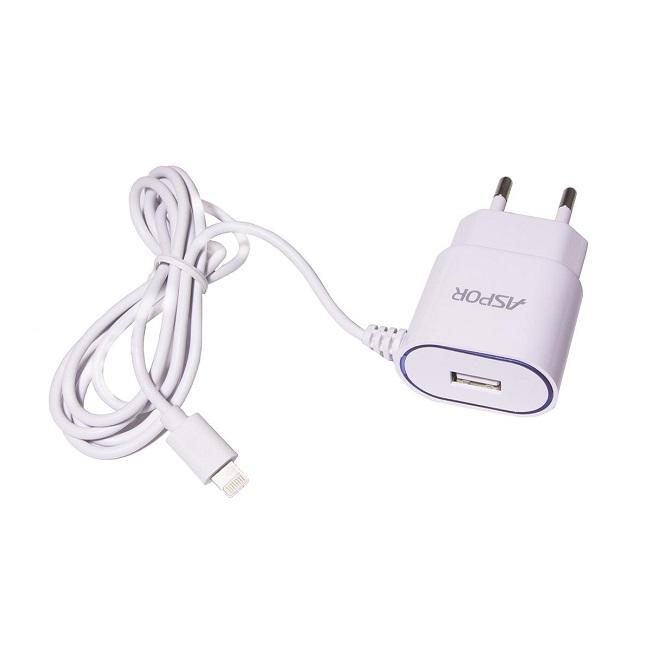Зарядное устройство сетевое Aspor для iPhono 5/6/7 1A Model A802(77) - картинка