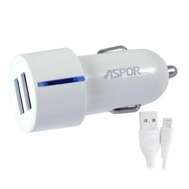 Зарядное устройство автомобильное Aspor Micro USB 2.4A Model A905(2520) - картинка