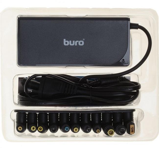 Блок питания Buro BUM-0221B90 автоматический 90W 18.5V-20V 11-connectors 4.5A 1xUSB 2.4A от бытовой - картинка