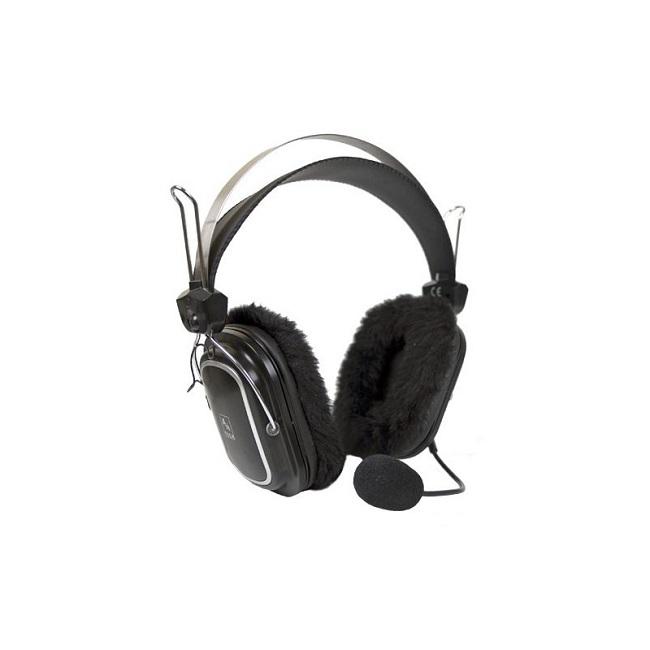 Наушники с микрофоном A4 HS-60 черный 2.5м мониторы - картинка