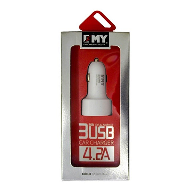 Зарядное устройство автомобильное блок EMY MY-117 4.2А(1175) - картинка