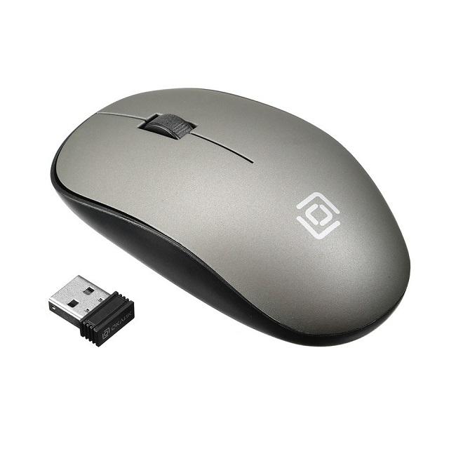 Мышь Oklick 515MW черный/серый оптическая (1200dpi) беспроводная USB (2but) - картинка