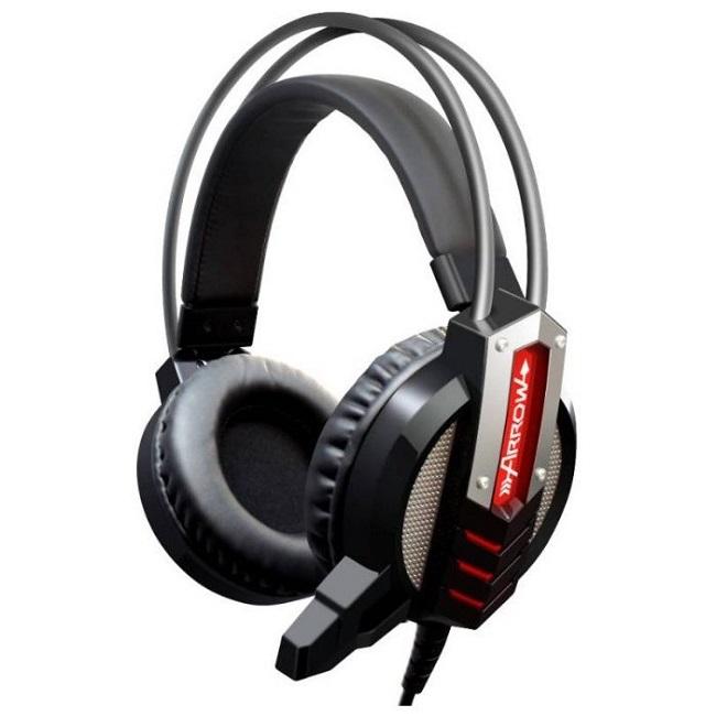 Наушники с микрофоном Oklick HS-L450G ARROW черный 2.2м мониторы (HS-L450G) - картинка