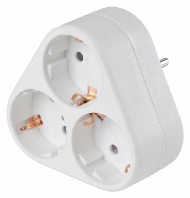 Сетевой разветвитель Buro BU-PS3VG-W (3 розетки) белый (пакет ПЭ) - картинка