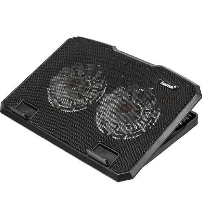 """Подставка для ноутбука Hama (00053065) 15.6""""370x270x30мм 23дБ 2x 140ммFAN 802г пластик черный - картинка"""