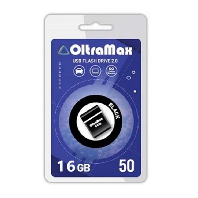 Флеш - накопитель 16Gb OltraMax 50 чёрный(8047) - картинка