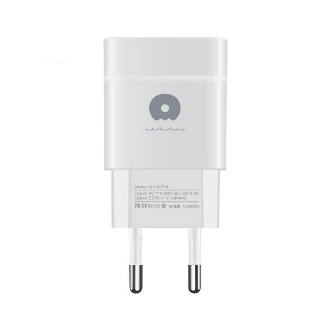 Зарядное устройство сетевое блок WUW-C72 1A(2655) - картинка